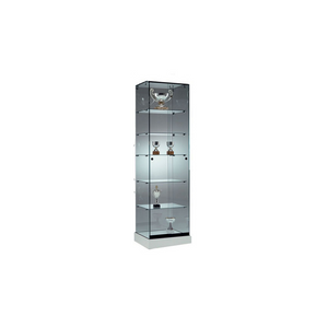 Furniture hire and equipment rentals - Glass Display Cabinet with Glass Shelves