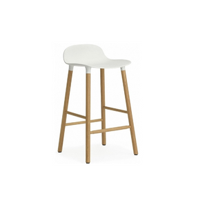 Furniture hire and equipment rentals - White and Oak Bar Stool (1218675736612)