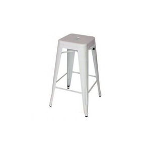 Furniture hire and equipment rentals - White Metal Tolix Style Bar Stool