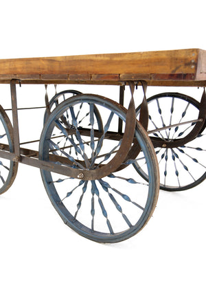 Hire rustic vintage cart wood and metal UK