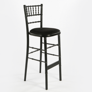 Black chiavari bar chair for hire Ireland for parties and events