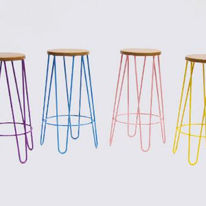 Hairpin bar stool bright colours Ireland furniture hire for parties and events