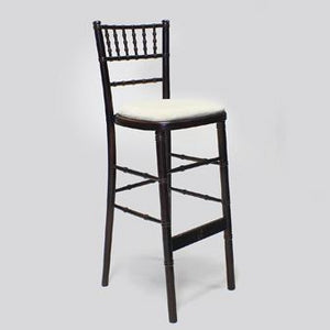 Dark wood chiavari bar chair for hire Ireland (1424666198052)