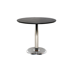 Black top circular meeting table Portugal event hire