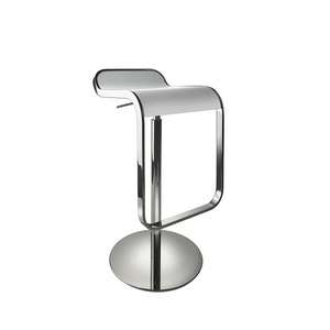 White contemporary Lem stool for hire Portugal