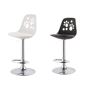 Black or White Contemporary Swivel Bar Stools