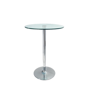 Glass Top Poseur Table (1518936031268)