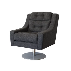 Grey fabric swivel armchair for hire Portugal (1497028984868)