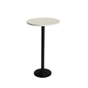 Black Metal Base Poseur Table