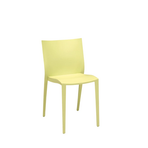 Furniture hire for conferences and exhibitions Portugal yellow stacking chair