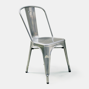 Event hire Ireland silver metal Tolix style chair (1424687235108)