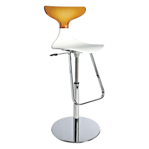 Event hire furniture France orange contemporary bar stool