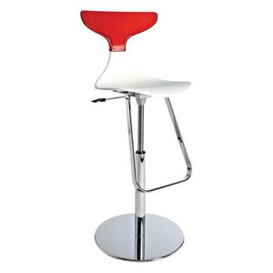 Event hire furniture France red and white bar stool (4104697643044)