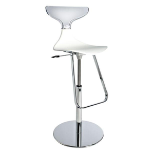 Event hire furniture France white and transparent bar stool