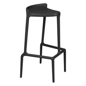 Event hire furniture France black contemporary bar stool (4104703901732)