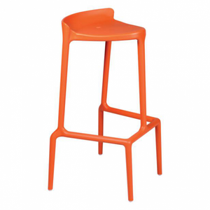 Event hire furniture in France orange bar stool (4104706326564)
