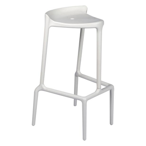 Event furniture hire for exhibitions and conferences in France white bar stool