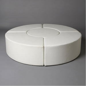 White Circular Daybed