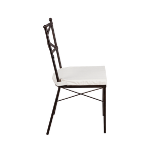 Hire chair for weddings and events crossback metal chair  (1519006613540)