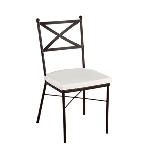 Hire chair for weddings and events crossback metal chair