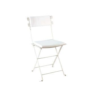 Furniture hire and equipment rentals - Trocadero White Chair with White Seat Pad & Back