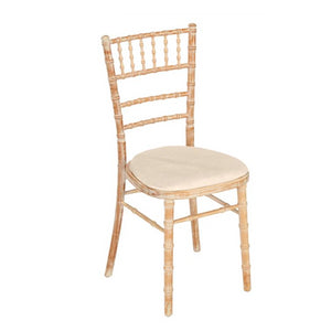 Furniture hire and equipment rentals - Bamboo Chair Cream Seat Pad (852630536228)