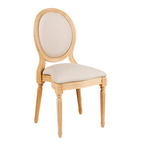 Furniture hire and equipment rentals - Montaigne Chair in Wood Finish and Cream Upholstery (856965644324)