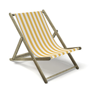 Giant yellow deck chair for hire fun event prop