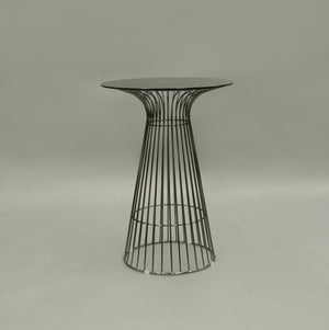 Furniture hire and equipment rentals - Gianni Gunmetal Smoked Poseur Table (1230895611940)