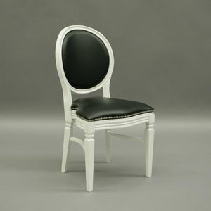 Black and white wedding and banquet chair hire Chandelle UK