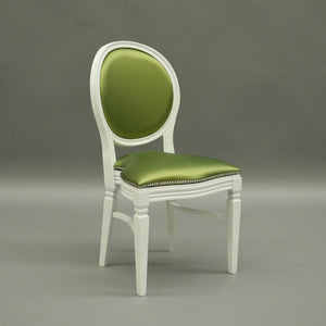 Green chartreuse wedding and banquet chair hire Chandelle UK