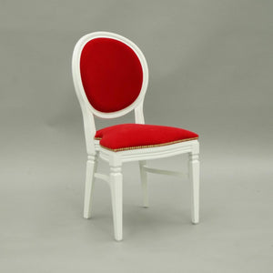 Red Velvet Wedding and banquet chair hire Chandelle UK