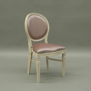 Chandelle Chair Rose in an Ivory Frame (1414354665508)