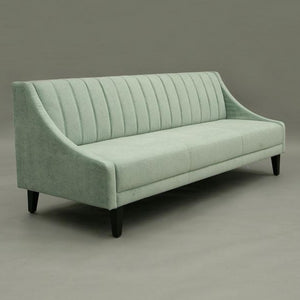 Luxury hire sofa soft seafoam green UK