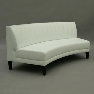 white curved sofa for hire for events UK