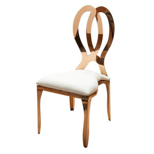 Rose gold wedding chair hire Ireland (1412830658596)