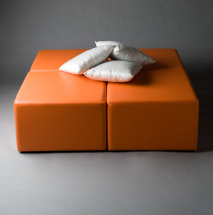 daybed hire for lounge party orange