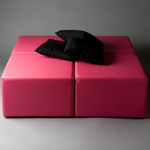 Daybed hire for lounge party pink