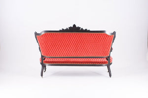 Furniture hire and equipment rentals - Empire Sofa with Red Velvet Upholstery