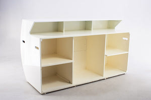 Furniture hire and equipment rentals - White Glossy Bar Rounded