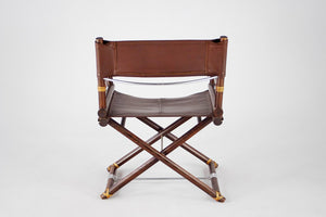 Furniture hire and equipment rentals - McGuire X-Chair Director in Oak and Leather