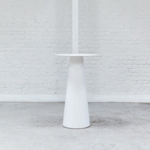Furniture hire and equipment rentals - Cone Poseur Table White (1200460922916)