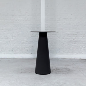 Furniture hire and equipment rentals - Cone Poseur Table Black