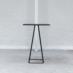 Furniture hire and equipment rentals - Milano Poseur Table Black (1200460890148)