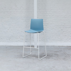Furniture hire and equipment rentals - Jacob Stool Sky Blue on White