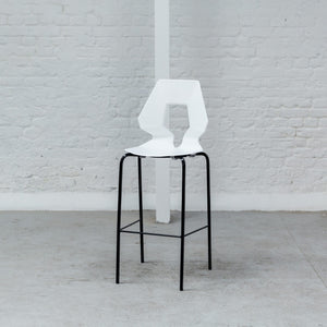 Furniture hire and equipment rentals - Geo Stool White on Black (1200460300324)