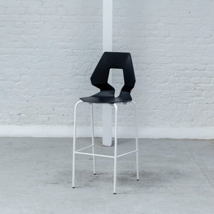 Furniture hire and equipment rentals - Geo Stool Black on White