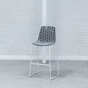 Furniture hire and equipment rentals - Hexa Stool Black & White
