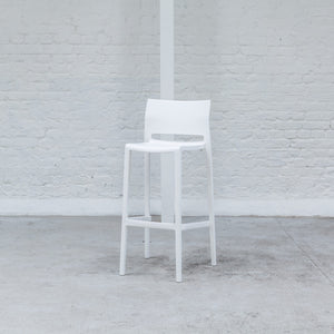 Furniture hire and equipment rentals - Hula Stool White (1200461479972)