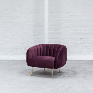 Furniture hire and equipment rentals - Dinky Armchair Claret (1200460103716)